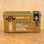 Prvi Partizan 308 Winchester Ammunition - 20 Rounds of 175 Grain FMJ-BT