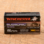 Winchester Subsonic Max 22 LR Ammunition - 50 Rounds of 42 Grain LHP