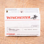 Winchester USA 9mm Ammunition - 1000 Rounds of 115 Grain FMJ