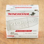 WInchester USA Target 40 S&W Ammunition - 200 Rounds of 165 Grain FMJ