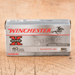 Winchester Super-X 40 S&W Ammunition - 50 Rounds of 155 Grain SilverTip JHP