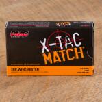 PMC Sierra X-TAC Match 308 Winchester Ammunition - 20 Rounds of 168 Grain OTM
