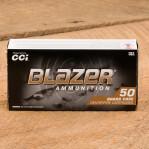 Blazer Brass 40 S&W Ammunition - 50 Rounds of 180 Grain FMJ