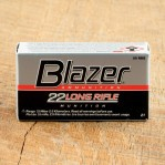 CCI Blazer 22 LR Ammunition - 50 Rounds of 40 Grain LRN