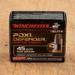 Winchester PDX1 45 ACP Ammunition - 200 Rounds of 230 Grain Bonded JHP