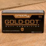 Speer Gold Dot Law Enforcement 9mm Luger Ammunition - 50 Rounds of 147 Grain JHP