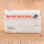 Winchester Target 308 Winchester Ammunition - 20 Rounds of 147 Grain FMJ