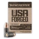 Winchester USA Forged 9mm Luger Ammunition - 150 Rounds of 115 Grain FMJ