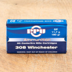 Prvi Partizan 308 Winchester Ammunition - 20 Rounds of 180 Grain SP