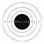 B-6 (P) Paper Targets - 50 Yd Slow Fire Pistol - 100 Count