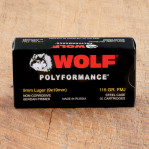 Wolf WPA Polyformance 9mm Luger Ammunition - 50 Rounds of 115 Grain FMJ