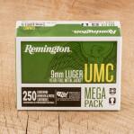 Remington UMC 9mm Luger Ammunition - 250 Rounds of 115 Grain MC