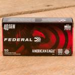 Federal American Eagle 40 S&W Ammunition - 1000 Rounds of 180 Grain FMJ