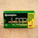 Remington HTP 380 ACP Ammunition - 500 Rounds of 88 Grain JHP