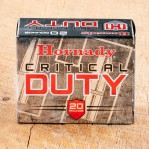 Hornady Critical Duty 357 Sig Ammunition - 20 Rounds of 135 Grain FlexLock JHP