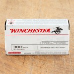 Winchester 380 ACP Ammunition - 50 Rounds of 95 Grain JHP