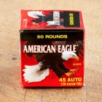 Federal American Eagle (Trayless) 45 ACP Ammunition - 50 Rounds of 230 Grain FMJ
