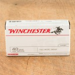 Winchester 40 S&W Ammunition - 50 Rounds of 165 Grain FMJ