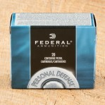 Federal Personal Defense 45 ACP Ammunition - 20 Rounds of 230 Grain JHP
