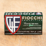 Fiocchi 308 Winchester Ammunition - 20 Rounds of 168 Grain Matchking HP-BT
