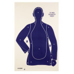 B21-E Blue Silhouette 25 Yard Practice Target - Law Enforcement / Self-Defense - Champion - 75 Count