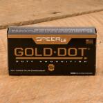 Speer Gold Dot LE 9mm Luger Ammunition - 50 Rounds of 124 Grain JHP