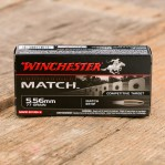 Winchester Match 5.56 NATO Ammunition - 20 Rounds of 77 Grain BTHP