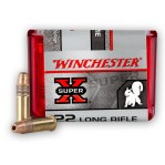 Winchester Super-X 22 LR Ammunition - 100 Rounds of 40 Grain Power Point HP