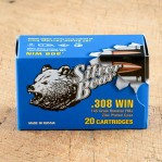 Silver Bear 308 Winchester Ammunition - 500 Rounds of 145 Grain FMJ