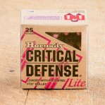 Hornady Critical Defense Lite 38 Special Ammunition - 25 Rounds of 90 Grain FTX