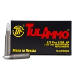 Tula 223 Remington Ammunition - 40 Rounds of 62 Grain HP