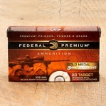 Federal Premium Sierra MatchKing Gold Medal 308 Ammunition - 20 Rounds of 168 Grain HP-BT