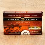 Federal Premium Sierra MatchKing Gold Medal 308 Ammunition - 20 Rounds of 168 Grain HP-BT