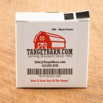 "Black Target Pasters - 1000 Count - 7/8"" Boxed Square Adhesive Pasters"