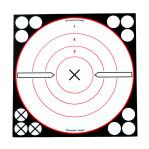 """Birchwood Casey Splatter Targets - 6 Shoot-N-C Targets - 8"""" Bullseye - B/W"""