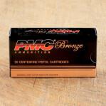 PMC Bronze 9mm Luger Ammunition - 50 Rounds of 115 Grain JHP