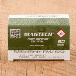 Magtech 5.56 NATO Ammunition - 1000 Rounds of 62 Grain FMJ