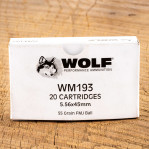 Wolf Gold 5.56x45 Ammunition - 1000 Rounds of 55 Grain FMJ