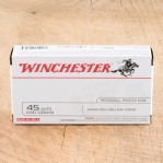 Winchester 45 ACP Ammunition - 500 Rounds of 230 Grain JHP