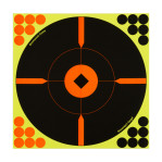 "Birchwood Casey Splatter Targets - 5 Shoot-N-C Targets - 12"" Bullseye - Red and Black"