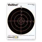 VisiShot 8 Inch Bullseye Target - Orange Reactive - Champion - 10 Count