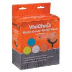 VisiChalk 2.5 Inch Target Multi-Color Refill Pack - Breakable Chalk - Champion - 48 Count