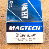 Image of Magtech 38 Super Ammunition - 50 Rounds of +P 130 Grain FMJ
