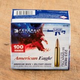 Image of Federal American Eagle 223 Remington Ammunition - 500 Rounds of 55 Grain FMJ