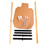 Image of IDPA Pro Kit - 20 Cardboard Targets, Collapsible Stand, Furring Strips, Pasters and Spikes