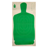 Image of B27 Green Silhouette Practice Target - Law Enforcement / Self-Defense - Champion - 100 Count